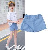 2018夏季新款夏天裙褲女孩女童半身短裙 ZL630『黑色妹妹』