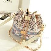 小包包2021秋季女包新款鏈條歐美時尚民族風單肩包手提包 「雙11狂歡購」