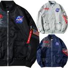NASA航空MA1飛行員外套 空軍情侶棒球教練外套 防風外套 3色 M-4XL碼【CW44047】