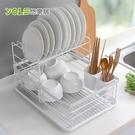 【YOLE悠樂居】日式鐵藝大容量餐具碗盤瀝水架-雙層白#1132103-2