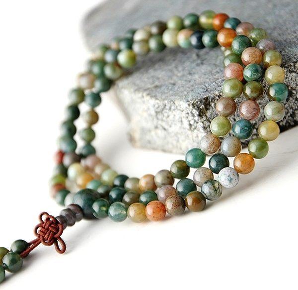 [協貿國際]天然印度瑪瑙108顆佛珠手鍊單條價