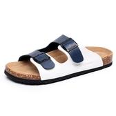 果洛菲男士拖鞋夏季防滑一字拖情侶軟木拖鞋 免運