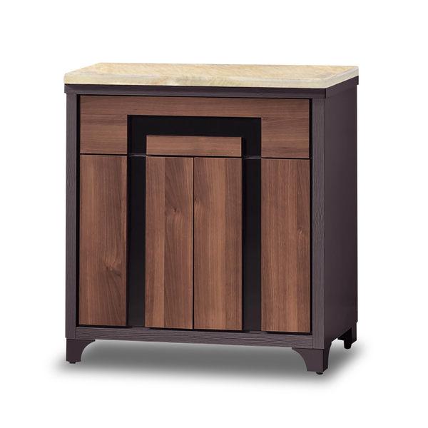 餐櫃【時尚屋】[G17]尼克絲鐵刀2.7尺石面碗櫃下櫃G17-A290-2免組裝/免運費/餐櫃
