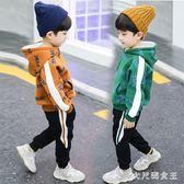 男童套裝 加絨冬裝洋氣兒童連帽衛衣兩件套3-4歲休閒5韓版寶寶保暖 df7125【大尺碼女王】