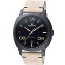 原廠公司貨 日期視窗顯示 藍寶石水晶鏡面 可欣賞機芯透明表底蓋 不鏽鋼錶殼,皮革錶帶