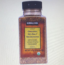 [COSCO代購] W617732 Kirkland Signature 科克蘭 有機無添加鹽調味香料 - 綜合21種香料 411公克