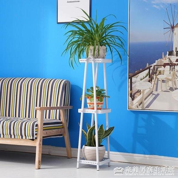 新款簡歐鐵藝花架多層客廳陽臺室內綠蘿吊蘭盆景架置物架簡約花架AQ 聖誕節免運