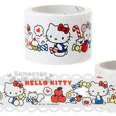 〔小禮堂〕Hello Kitty 蕾絲寬版紙膠帶《紅白.經典吊帶褲》30mmx5m.裝飾.包裝禮物 4901610-44515
