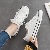 平底鞋 平底新款小白鞋帆布鞋女2021板鞋ulzzang韓版百搭低幫冬季布鞋子【快速出貨八折下殺】