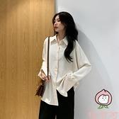襯衣女夏季寬鬆垂感薄款外套雪紡防曬白襯衫【桃可可服飾】