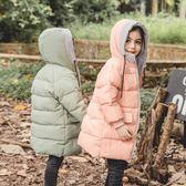 萬聖節狂歡   兒童羽絨服加厚中長款男童冬裝女寶寶中大童白鴨絨外套  mandyc衣間