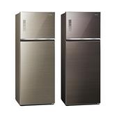 國際 Panasonic 485公升無邊框玻璃雙門變頻冰箱 NR-B481TG
