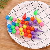 彩虹筆 蠟筆 文具 重點筆 可拆卸 著色筆 彩色筆 辦公用品 表情彩虹筆(5支)【 H009】生活家精品
