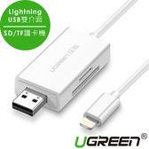 現貨Water3F綠聯 Mfi  Lightning/USB雙介面SD/TF讀卡機 APPLE原廠認證
