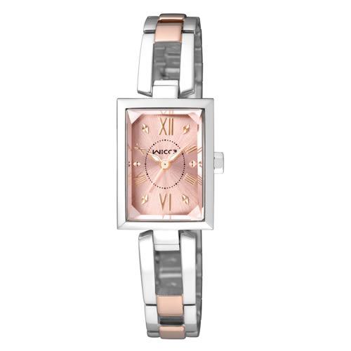 CITIZEN wicca法式優雅甜心腕錶/玫瑰金/BE1-038-91
