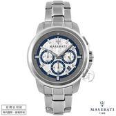 【台南 時代鐘錶 MASERATI】台灣公司貨 瑪莎拉蒂 SUCCESSO系列 R8873621006 三眼計時腕錶