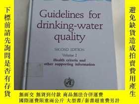 二手書博民逛書店Guidelines罕見for Drinking-water Quality (Volume 2)Y24863