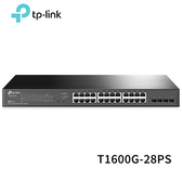 TP-LINK T1600G-28PS (TL-SG2424P) JetStream 24埠 Gigabit 智慧型PoE+ 交換器 (含4個SFP插槽)