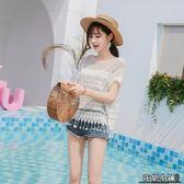防曬衣 寬松鏤空蕾絲鉤花上衣女泰國度假防曬衫沙灘海邊短款流蘇罩衫