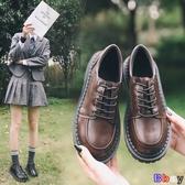 貝貝居 平底單鞋 圓頭 娃娃鞋 英倫 小皮鞋