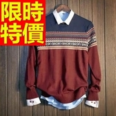 長袖毛衣-美麗諾羊毛英倫風禦寒套頭男針織衫63t8【巴黎精品】