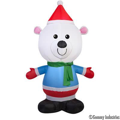 節慶王【X027892】107cm充氣小熊,佈置/聖誕充氣/會場佈置