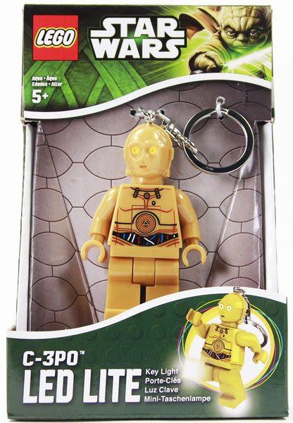樂高Lego 【星際大戰~C-3PO 鑰匙圈 (盒裝) 】含LED燈