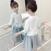 名族風童裝 女童漢服秋裝套裝改良女孩童裝中國風兒童民族風服裝復古唐裝