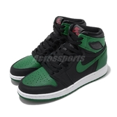 Nike Air Jordan 1 Retro High GS Pine Green 綠 黑 女鞋 大童鞋 籃球鞋 喬丹1代【PUMP306】 575441-030