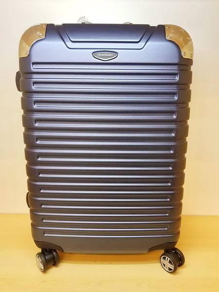EMINENT雅仕 萬國通路 霧面鋁框 PC材質 台灣製MIT 行李箱/旅行箱-28吋(藍) 9Q3