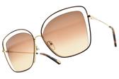 Chloe 太陽眼鏡 CE133S 213 (琥珀棕金-漸層棕鏡片) 率性造型設計框  # 金橘眼鏡