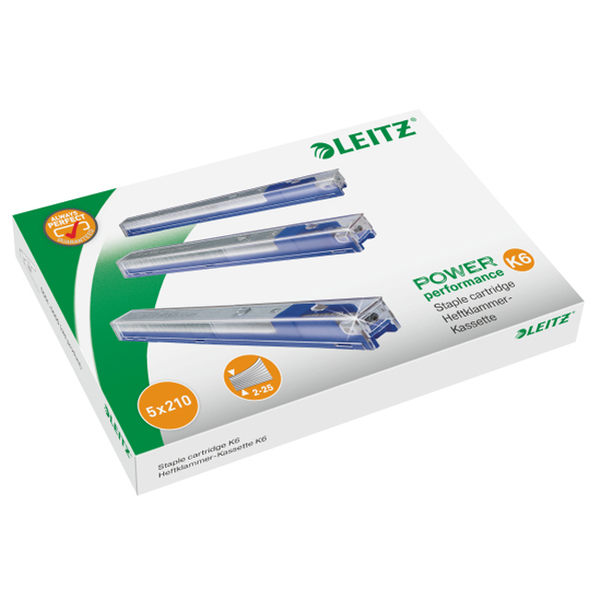 LEITZ 5551釘書機專用訂書針K8*5入-黃5592