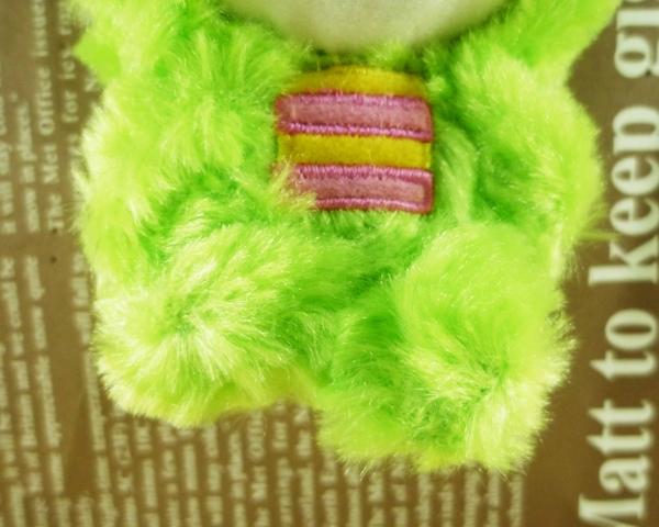 【震撼精品百貨】Hello Kitty 凱蒂貓~絨毛鎖圈-綠恐龍