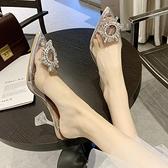 透明高跟鞋女2021新款夏季尖頭百搭仙女風水鉆性感水晶細跟涼鞋女 寶貝計畫
