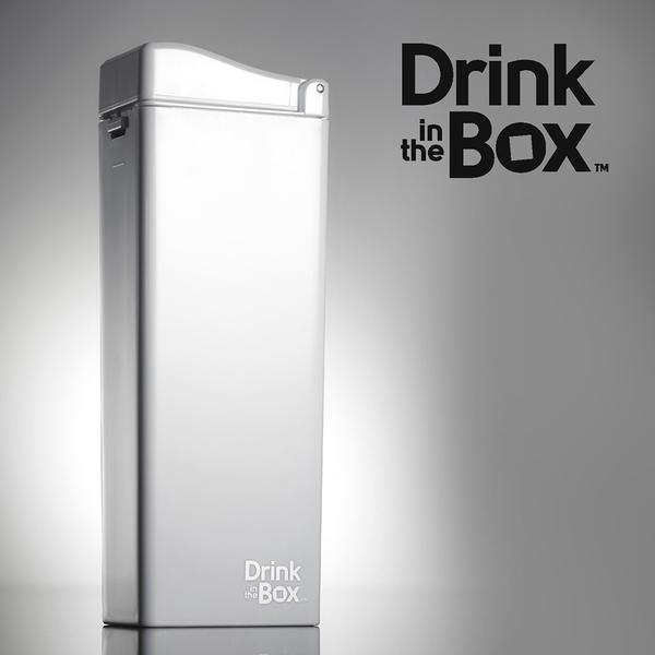 Drink in the box 加拿大 時尚戶外吸管水杯 / 水壺 355ml -冰雪白