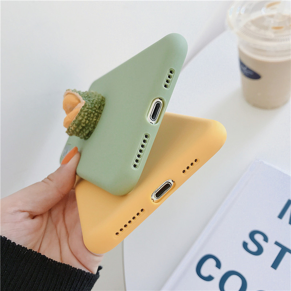 日韓卡通立體水果 iPhone7保護殼 XS MAX保護套 XR i8 軟殼  i6s plus手機殼 ix蘋果i6手機殼全包邊防摔軟殼