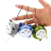 日本宮崎駿動漫周邊掛件龍貓毛絨公仔娃娃手機鏈書包掛飾吊飾禮物   蘑菇街小屋