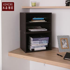 【木森雅居】KIMORI S-Cabinet可堆疊層板櫃/收納櫃深胡桃木色款