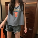 短款無袖上衣女夏ins潮2020新款背心t恤學生外穿寬鬆韓版chic衣服「時尚彩紅屋」