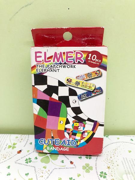 【震撼精品百貨】彩色大象~ELMER~OK蹦附盒子~紅白色#13412