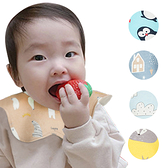 MuslinTree嬰兒口水巾寶寶圍兜360度圓形花瓣防水圍嘴-JoyBaby