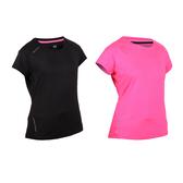 FIRESTAR 女彈性短袖圓領T恤(慢跑 路跑≡體院≡ DL965