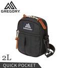 【GREGORY 美國 2L QUICK POCKET 斜背包《黑》】65459/側背包/隨身包/休閒包/小包