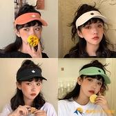 帽子女空頂遮陽帽韓版防曬無頂鴨舌太陽帽運動跑步戶外棒球帽