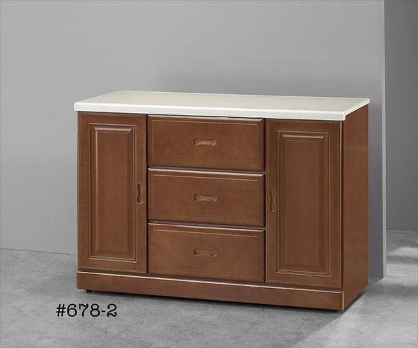 【TORO】樟木色強玻4尺石面餐櫃下座 CS-678-2