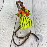BRAND楓月 LOEWE 流蘇 橘色花朵 黃色花蕊 五金大象 吊飾 包包裝飾 皮飾 皮件 南洋風