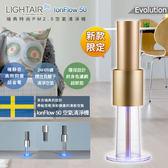 瑞典 LightAir IonFlow 50 Evolution PM2.5 桌上型/落地型 免濾網空氣清淨機 15坪適用