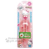 〔小禮堂〕Hello Kitty 兒童學習筷《粉白.站姿.右手專用》軟式套環設計.EDISON 4544742-91623
