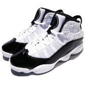 Nike Air Jordan 6 Rings 六冠王 白 黑 Concord 魔鬼氈 籃球鞋 男鞋 喬丹【PUMP306】 322992-104