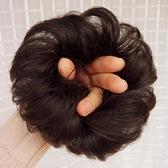 全真人發假髮發圈 捲發丸子頭假髮包 半丸子頭花苞頭捲發圈發髻